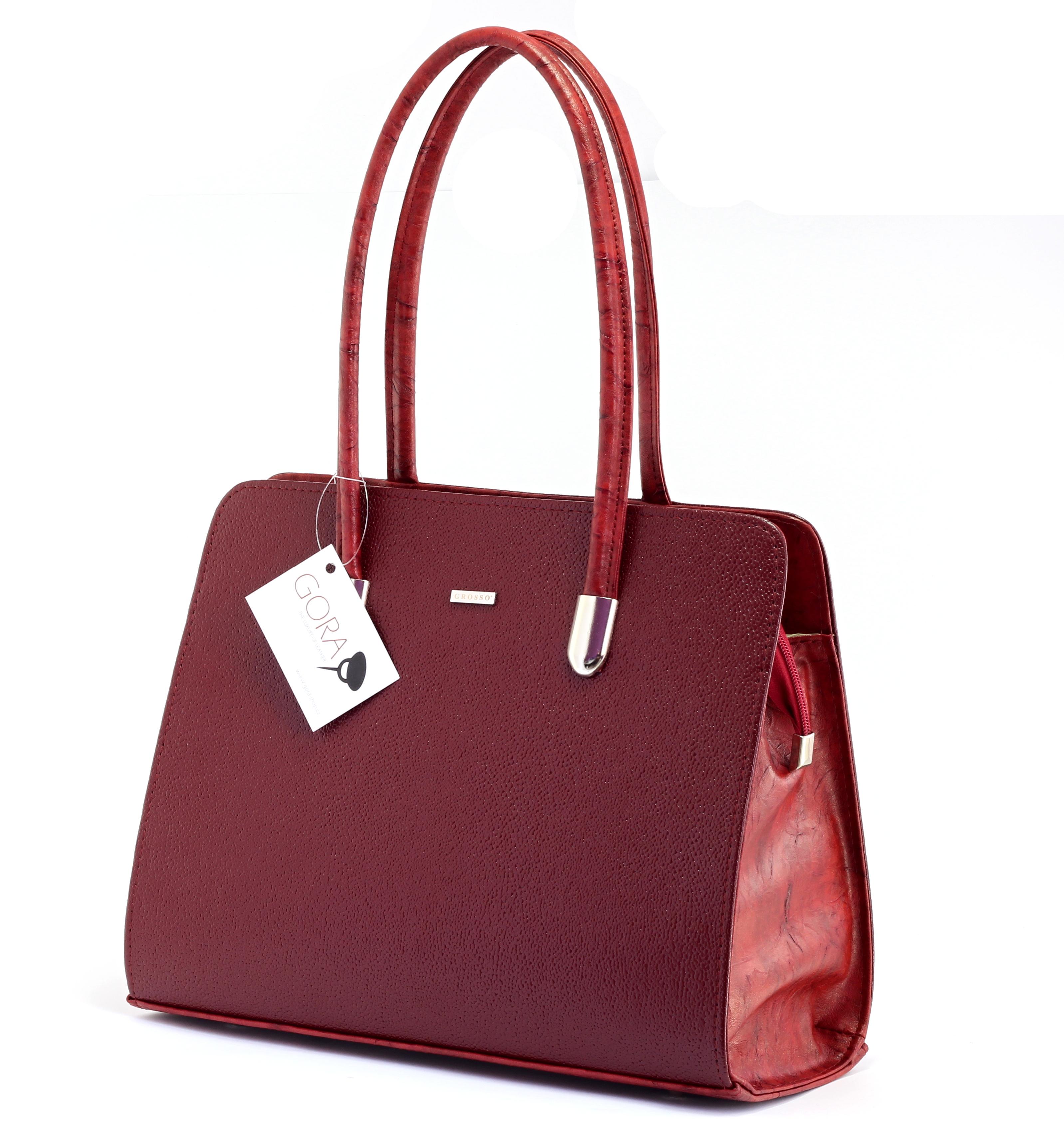 Dámska hranatá kabelka GROSSO - červená  71e5d11d8b5