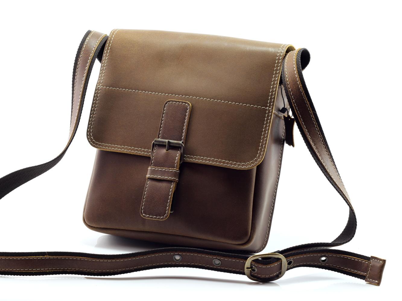 36cd3cfbbe Pánská kožená taška GORA 453 - hnědá